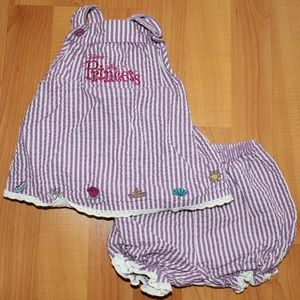 Disney Parks Girl 12M Purple Dressy Top & Shorts